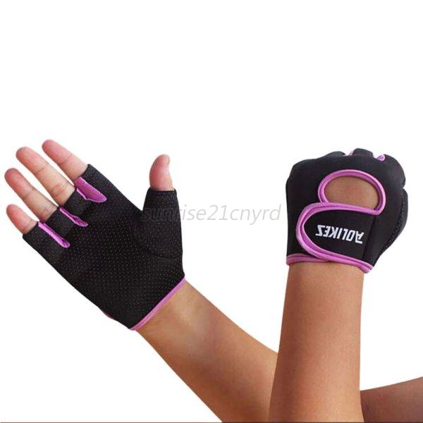 Hompo Ladies Gloves Bodybuilding Fitness Weight Lifting: Men Ladies Gel Gloves Fitness Gym Wear Weight Lifting