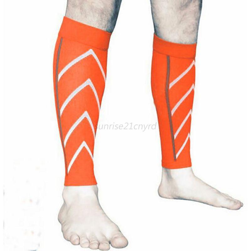 Sports-Gym-Yoga-Socks-Support-Compression-Leg-Sleeve-Outdoor-Exercise-Multicolor