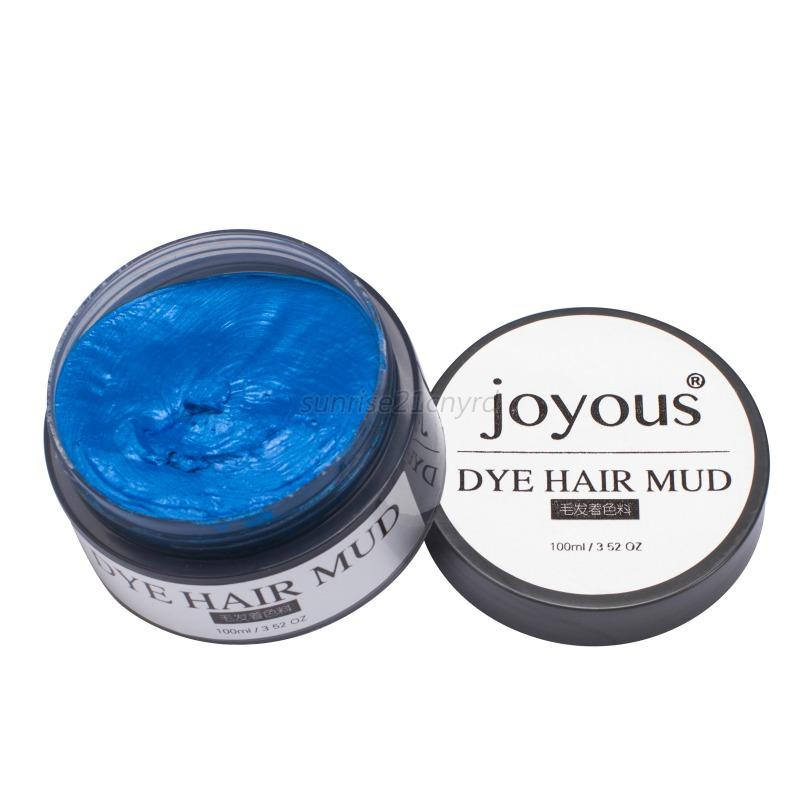 Unisex DIY Hair Color Wax Mud Disposable Temporary Modeling Dye Cream Multico
