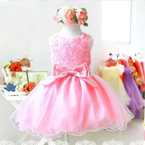 Us Girl Lace Tutu Dress Toddler Baby Flower Birthday Wedding