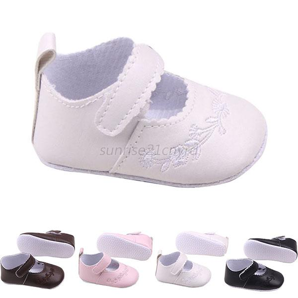 4a3408a32402 Details about Toddler Baby Kid Girl Solid Shoes Soft PU Leather Anti-Slip  Prewalker 0-12 Month