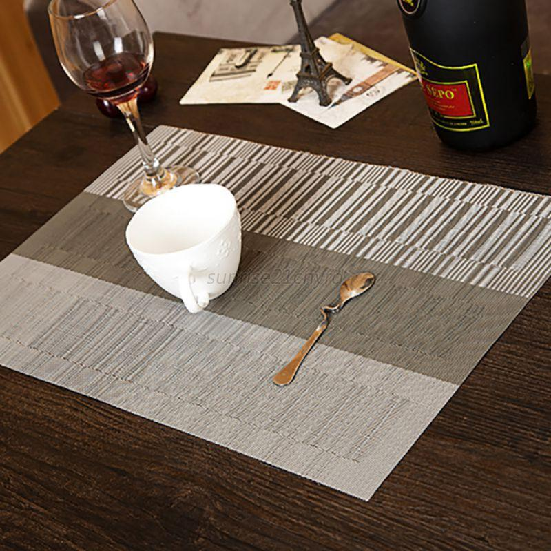 4pcs Set Modern Style Dining Table Placemat Waterproof