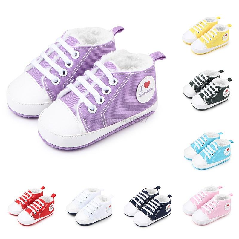 c52af3a2c109 Details about Fashion Baby Kids Boy Girl Winter Boots Toddler Soft Crib  Shoes Sneakers 0-12M