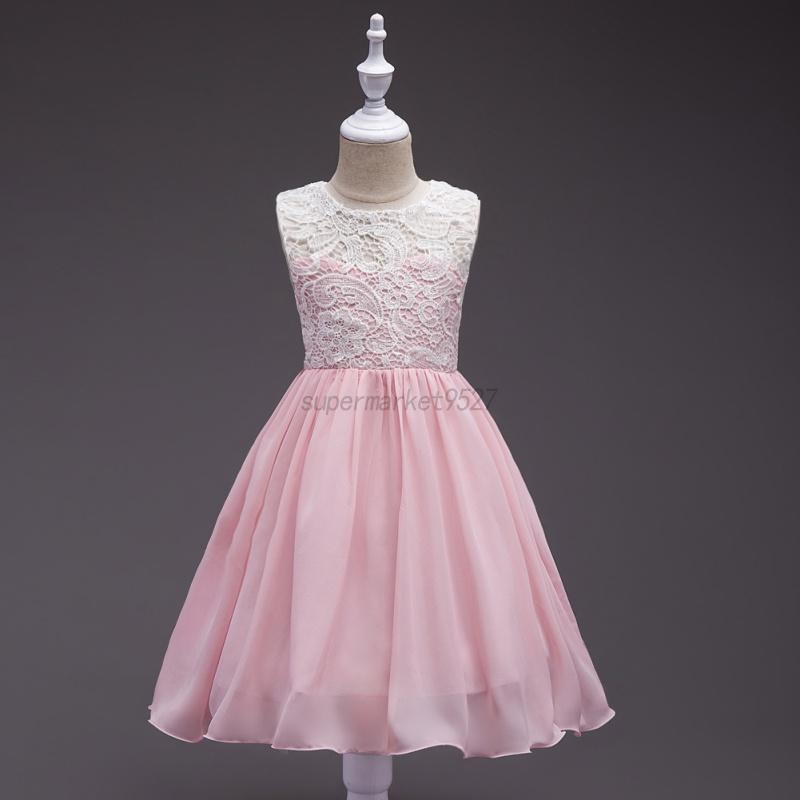 Girls bridesmaid dress kids princess wedding party flower for Wedding dresses for child