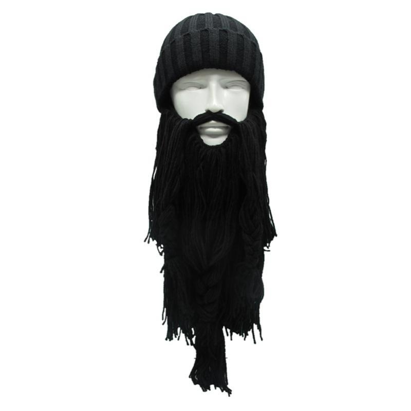 De hombre de ganchillo Vikingos Wizard Máscara Sombrero de Punto ...