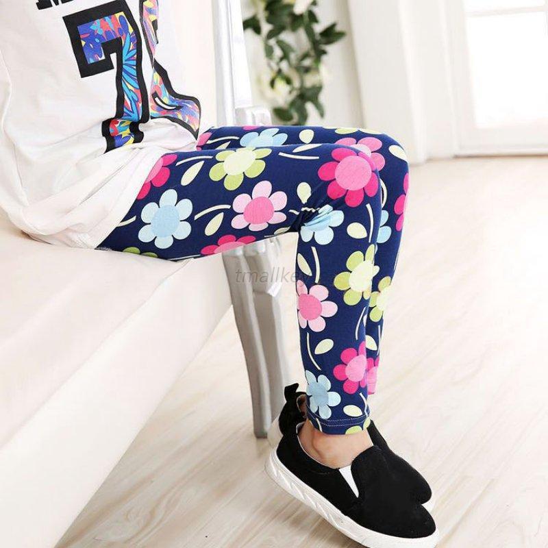 10 Styles Hot Kids Girl Baby Leggings Flower Floral ...