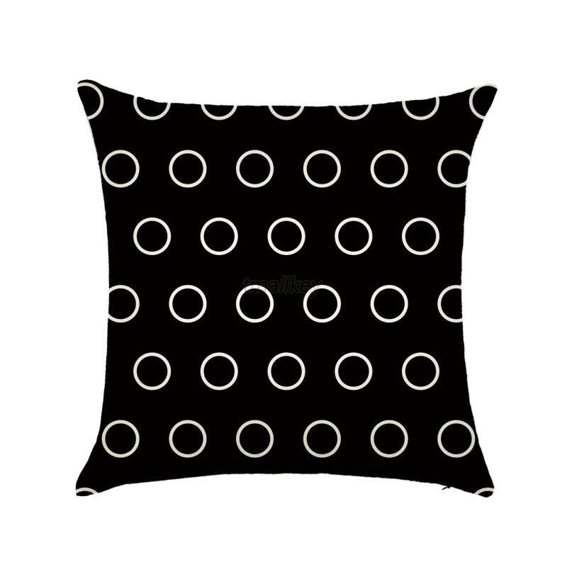 Black Cotton Throw Pillows : Retro Black & White Cotton Linen Throw Cushion Cover Pillow Case Home Decor eBay
