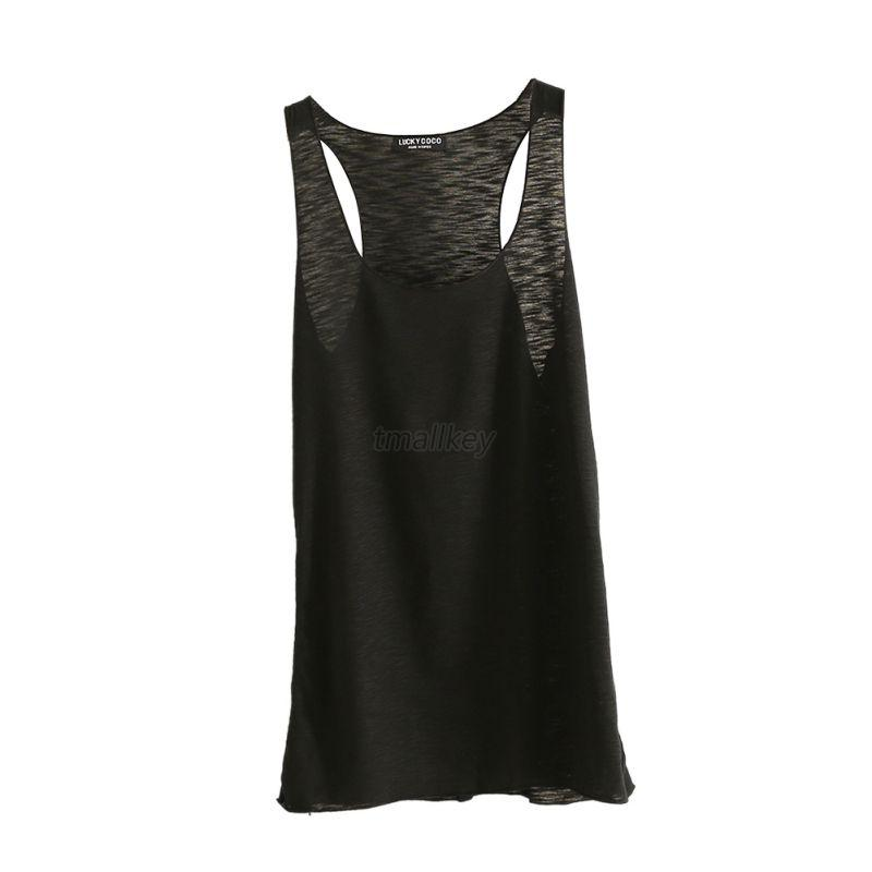 Fashion Women Cotton Vest Top Sleeveless Casual Tank Blouse Tops T-Shirt