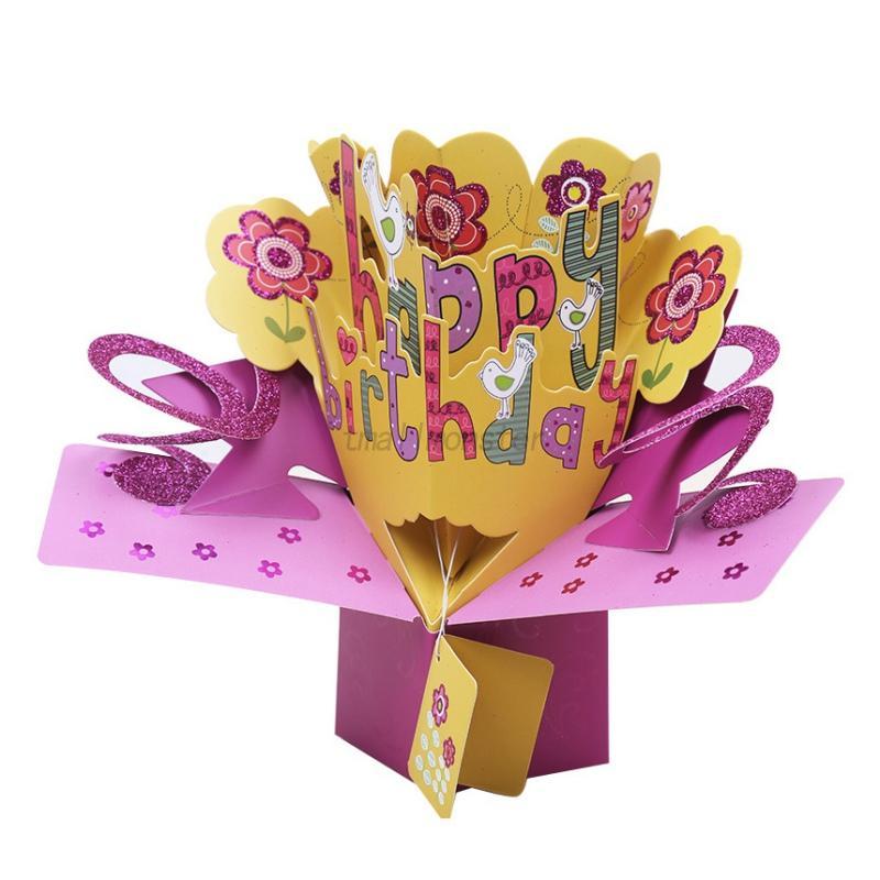 3d Pop Up Cards Happy Birthday Valentine Lover Anniversary Greeting