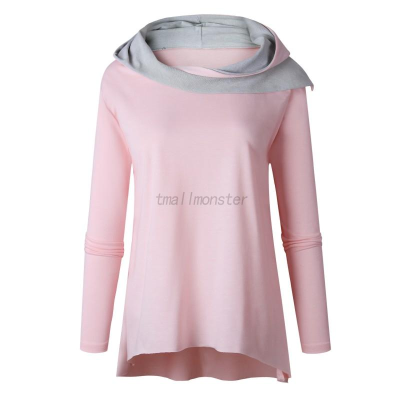 Women-Long-Sleeve-Hooded-Blouse-Tops-Ladies-Casual-Loose-Polyester-Solid-T-shirt