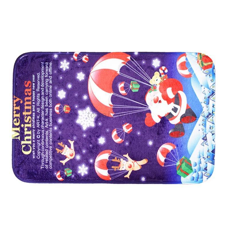 USA Christmas Bathroom Small Mat Snowman Elk NonSkid Bath Rug - Non skid bath rug for bathroom decorating ideas