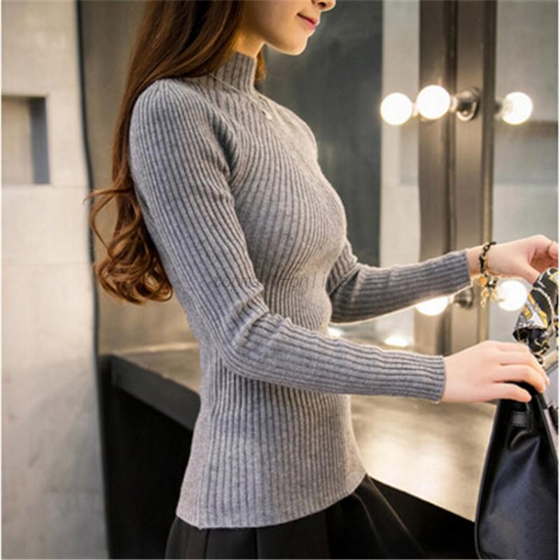 Women-Long-Sleeve-Pullover-Jumper-Sweater-Ladies-Autumn-Winter-Warm-Elastic-Tops