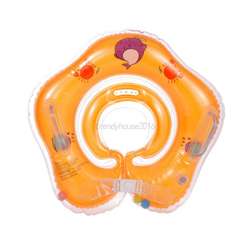 AU Inflatable Newborn Swimming Bath Baby Float Neck Ring Safety Aid ...