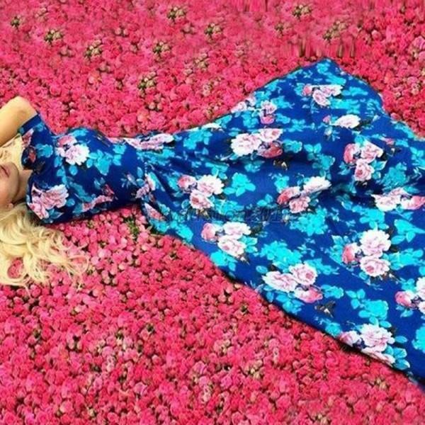 AU-Women-Boho-Floral-Maxi-Long-Dress-Party-Cocktail-Evening-Long-Sundress-S-XL