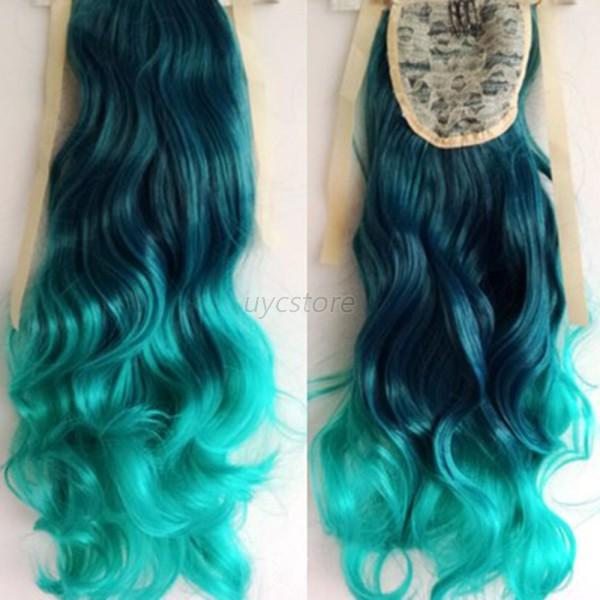 Stylish ombre mix color 53cm long wavy curly ponytail hair stylish ombre mix color 53cm long wavy curly pmusecretfo Image collections