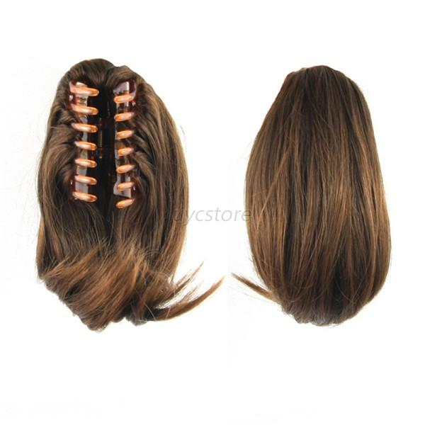 Fabulous New Straight Butterscotch Claw Clip Ponytail Clip On Hair Piece Hairstyle Inspiration Daily Dogsangcom