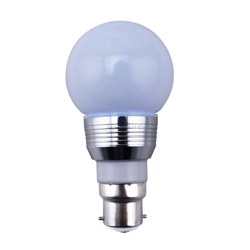 3w e27 e14 b22 rgb 16 color change led light bulb ir remote control home decor. Black Bedroom Furniture Sets. Home Design Ideas