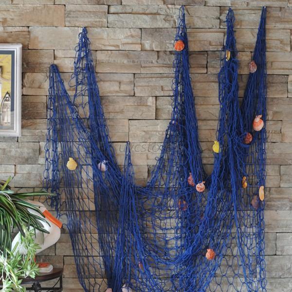 Nautical fishing net seaside wall party wedding stage decor sea nautical fishing net seaside wall party wedding stage junglespirit Image collections