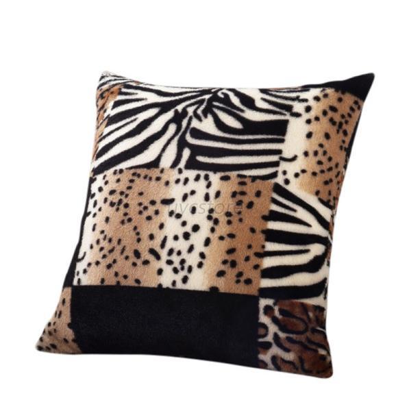 uk animal zebra leopard print pillow case sofa waist throw