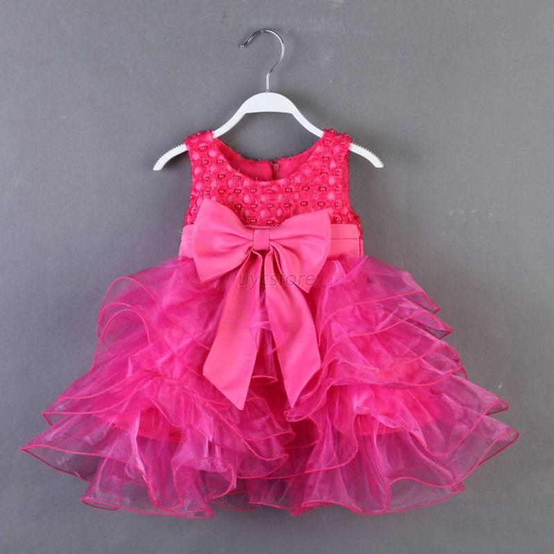 baby toddler girl clothes bowknot princess wedding party