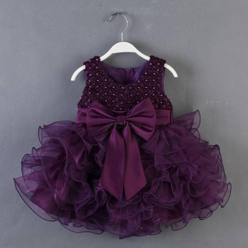 baby toddler girl clothes bowknot princess wedding party
