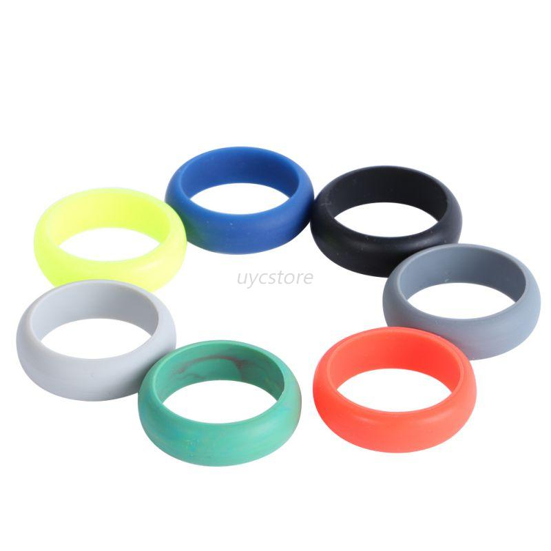 mens rubber silicone wedding ring band flexible On flexible wedding bands