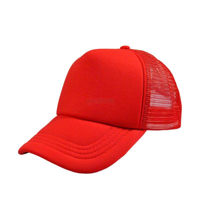 Baseball-Cap-Trucker-Hat-Blank-Curved-Hat-Mesh-Adjustable-Plain-Color-Cap