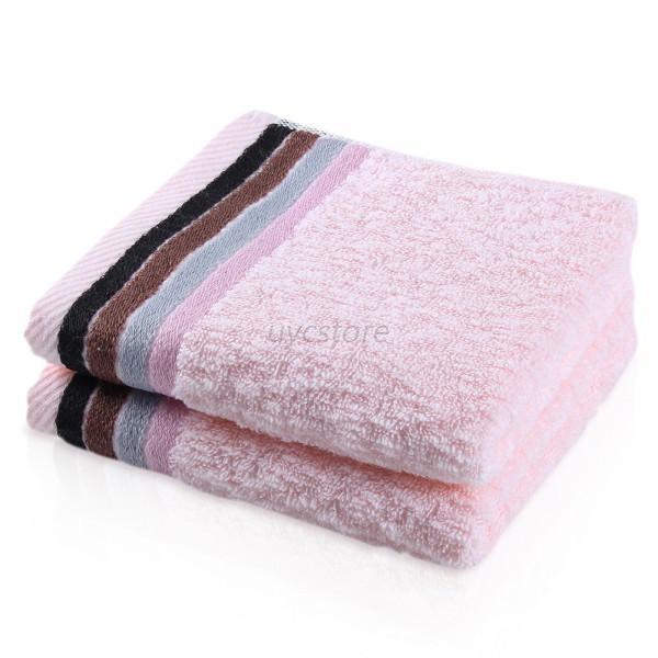 Bathroom Towels Striped: Plaid/Striped Cotton Wipe Absorbent Hotel Bath Towel