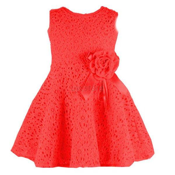 Baby Child Girl Kids Princess Tutu Dress Lace Sleeveless Party ...