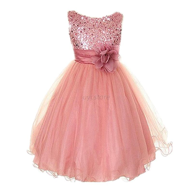 Girl Kid Flower Princess Formal Dress Party Wedding Pageant Prom ...