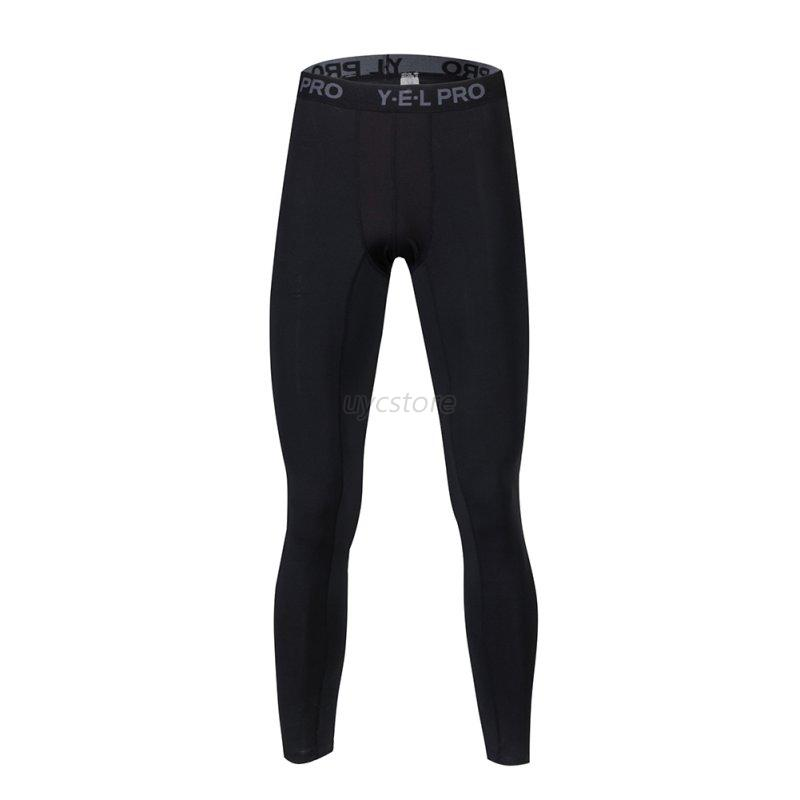 New Men Sports Running Compression Pants Gym Workout Base Layers Football Tights | EBay