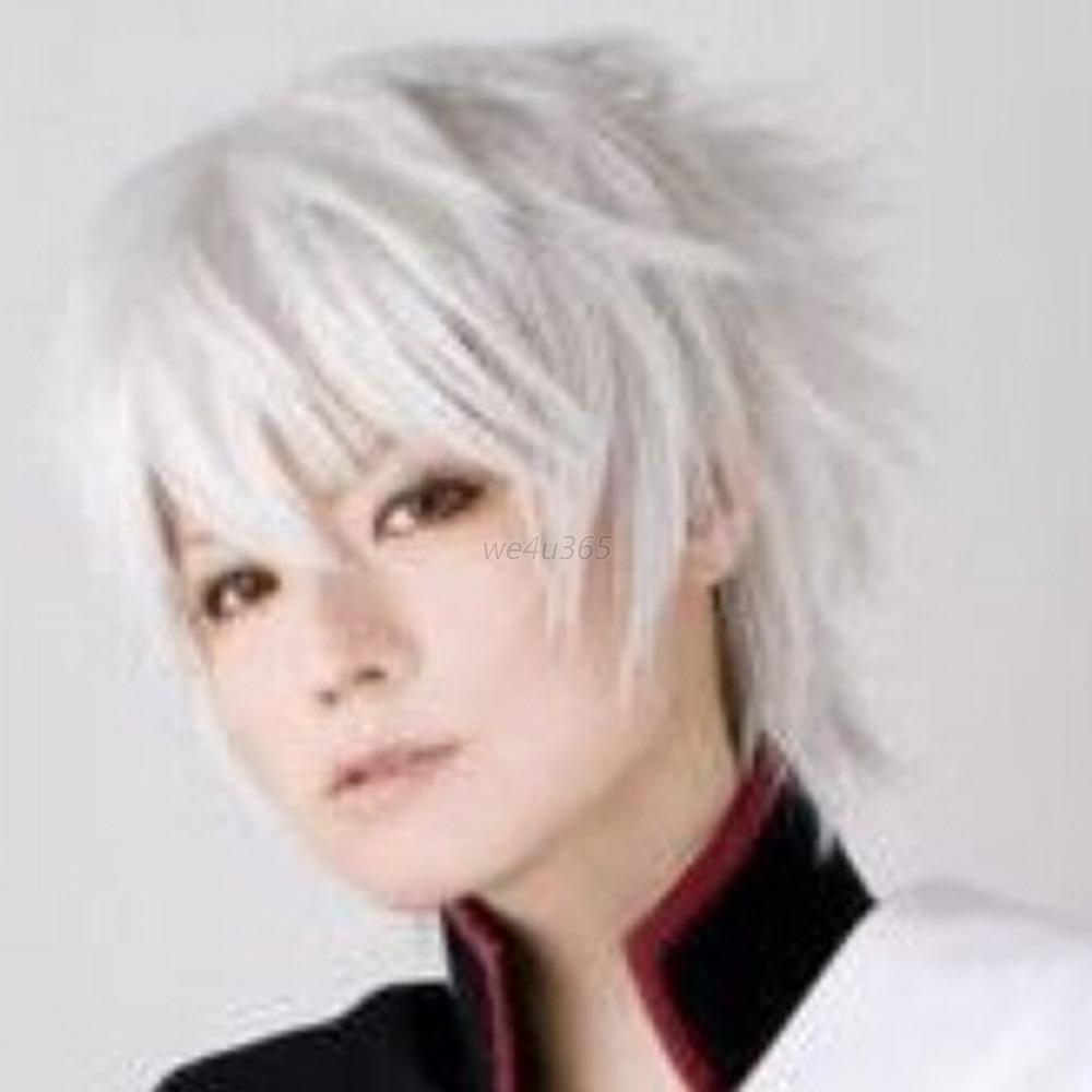 Marvelous Male Anime Cool Short Wig Cosplay Party Straight Hair Cosplay Full Short Hairstyles Gunalazisus