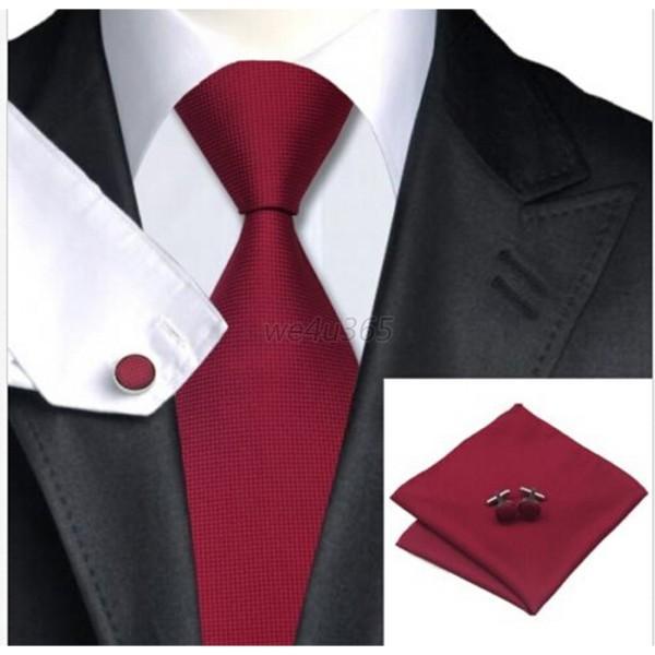 AU-Mens-Solid-Formal-Business-Silk-Woven-Tie-Wedding-Party-Groomsmen-Necktie-Set