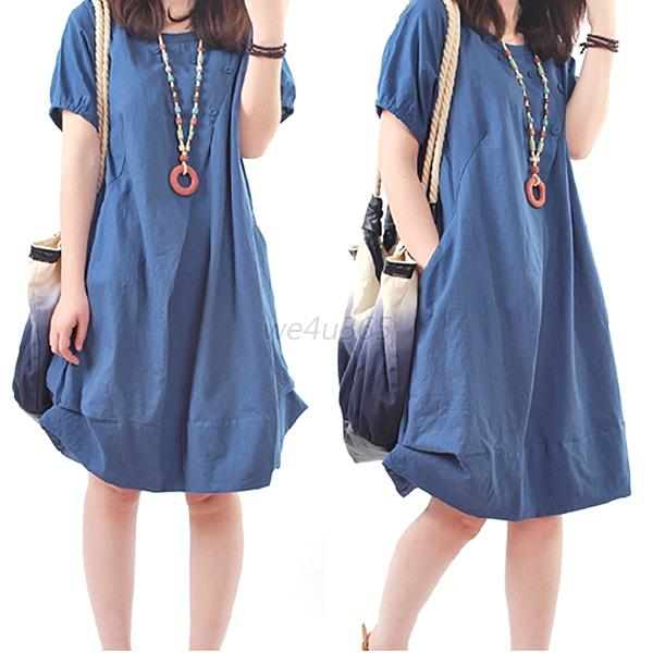 Pregnant Dress Women Clothes Summer Denim Short Sleeves ...