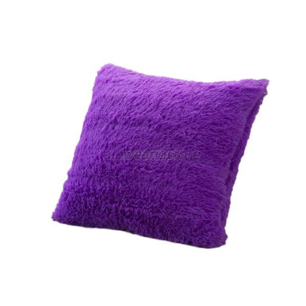Sofa Pillows Soft: Soft Plush Faux Fur Fleece Pillows Case Cushion Cover