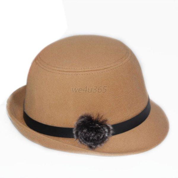 Stylish Womens Ladies Soft Wool Felt Fedora Winter Warm ...