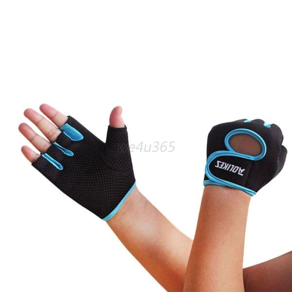 Women Work Out Gloves Weight Lifting Gym Sport Exercise: Unisex Women Men Weight Lifting Fitness Gym Exercise