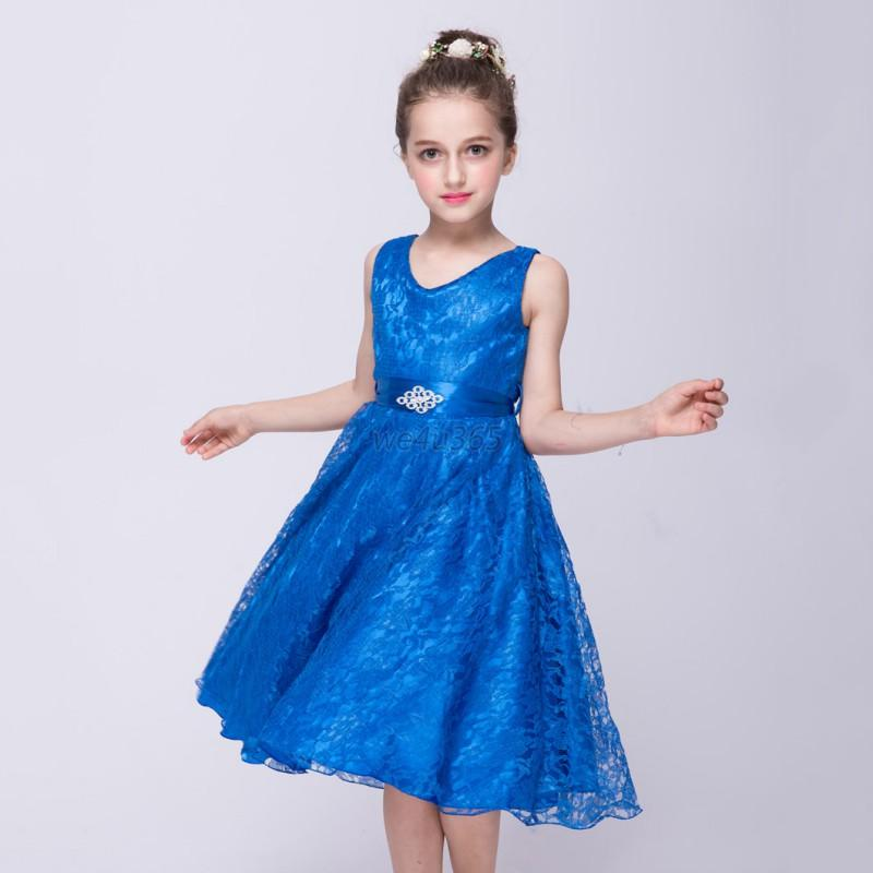 Girl Children Floral Dress Party Formal Pageant Bridesmaid