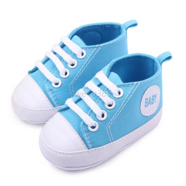 Baby Toddler Kids Shoes Lace Up Canvas Sneakers Boys Girls