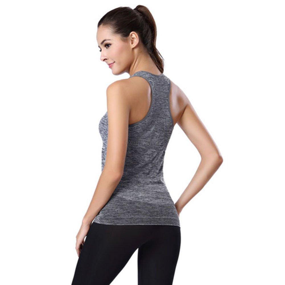 Women Sleeveless Vest Gym Sports Shirt Yoga Top Ladies