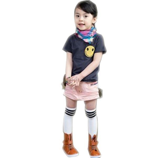 Toddler Kid Girls Cotton Stripes Socks School High Knee ...