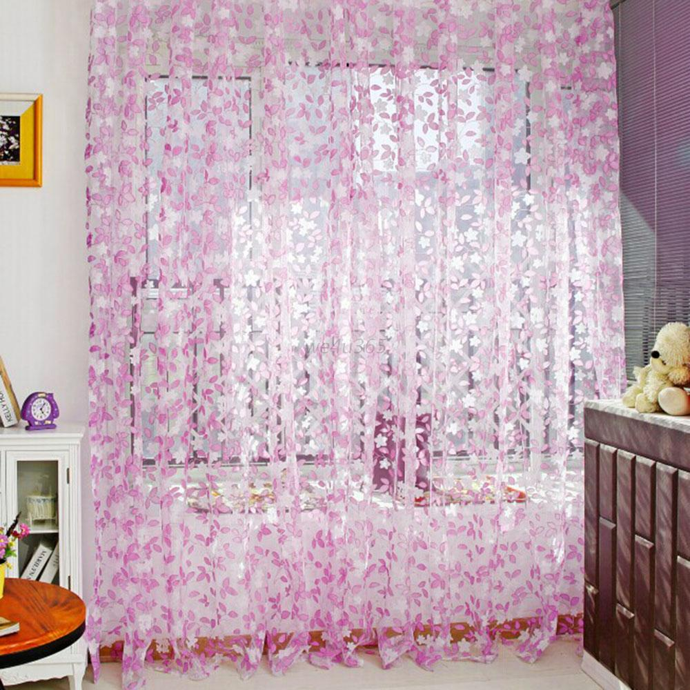 Beautiful Modern Tulle Panel Drapes Room Window Curtain