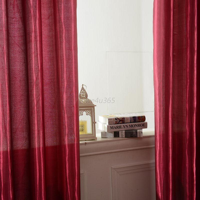 1 PCS Pure Window Curtain Panel Drape Door Room Blackout Curtains 12 Colors