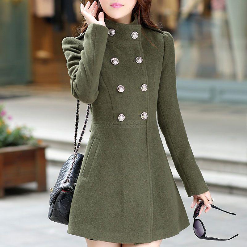Fashion Women Ladies Warm Korean Long Coat Winter Jacket ...
