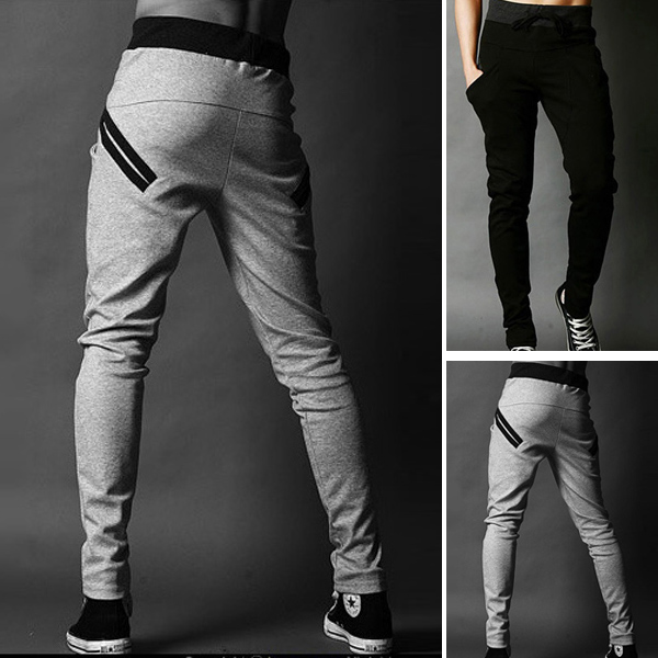 Cool Mens Jogging Harem Pants Skinny Slim Fit Training Trousers ...