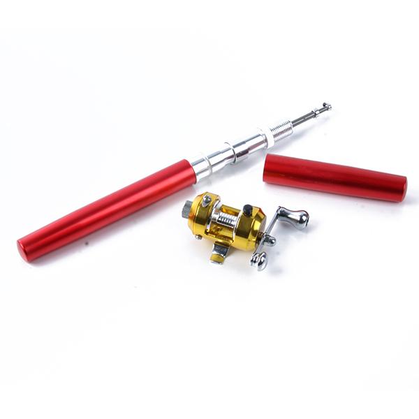 Mini portable aluminum alloy telescopic pocket pen shape for Fishing rod pen