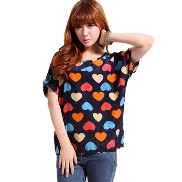 Trendy women ladies chiffon blouses t shirt batwing for Trendy t shirts for ladies