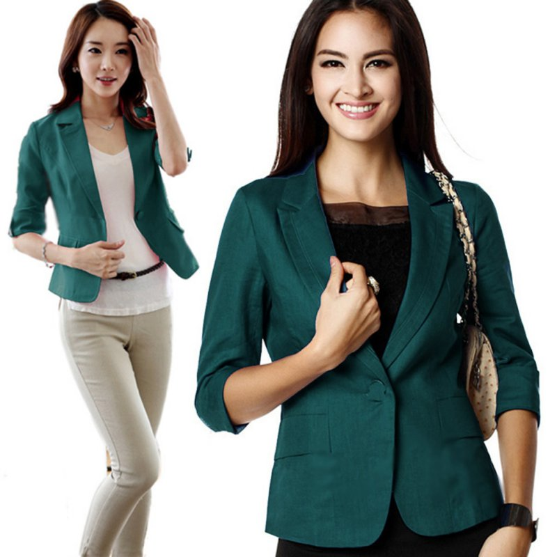 Hot Women Office Slim Casual Formal Business Blazer Suit Jacket Coat Outwear lot | eBay