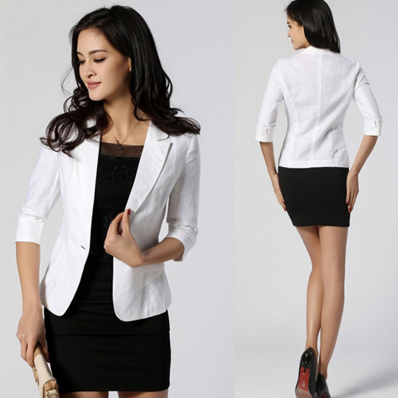 Candy Colors Women S Fashion Outerwear Solid Slim Casual Suit Blazer
