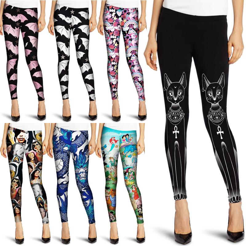Sport Gym Fitness Leggings Women Yoga Punk High Waist Pants ...